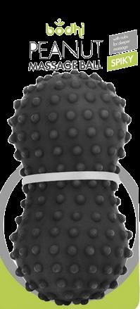 Peanut Massageball, schwarz spiky
