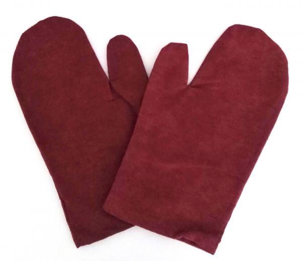 Hygienebezug 1 Paar Flanell Handschuh rot